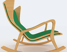 Modern Rocking Chair 3D Model