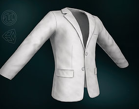 White Blazer Jacket 3D model