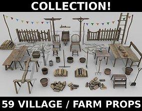 3D model Village Props