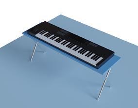 3D asset Low Poly MIDI Keyboard