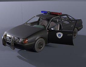 3D asset Ford Taurus Robocop OCP Police Car