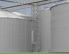 3D model Grain Elevator Complex