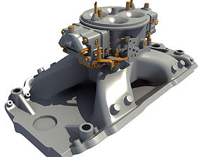 3D Holley Carburetor Intake Manifold
