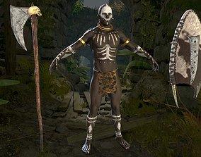 3D model African Warrior