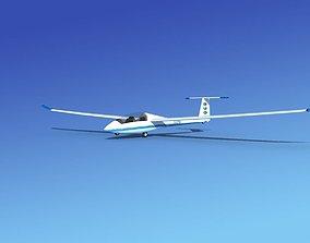planes 3D rigged Duo Discus Sailplane