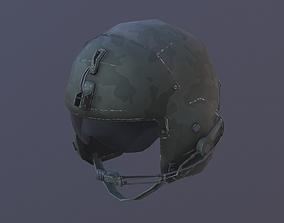 Helicopter Pilot Helmet 3D model game-ready
