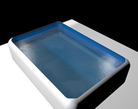 a simple water dropping on a bowl 3D model