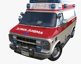 American ambulance car 3D model