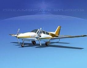 3D Beechcraft B55 Baron V14