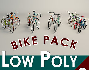 Low Poly Bike Pack 3D model