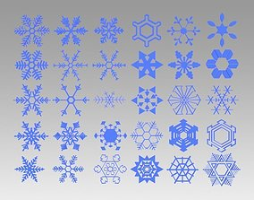 Snowflakes collection 3D model