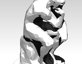 The Thinker Lowpoly Style 3D print model