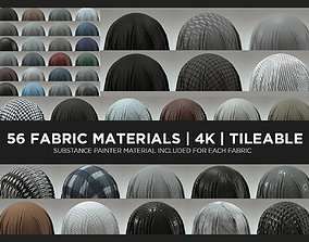 56 Fabric Materials - COMPLETE PACK 3D
