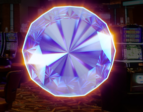 animated 3D Diamond for slot game obj and png loop