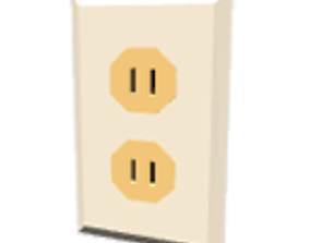 Double electric outlet 3D