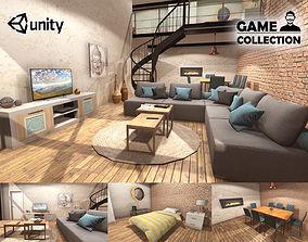 3D asset Modern Loft interior