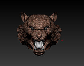Tiger head Low res 3D