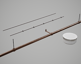 3D asset Smoke Detector Modular Scene