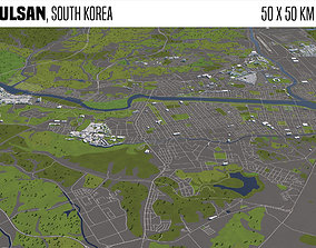 Ulsan South Korea 50x50km 3D