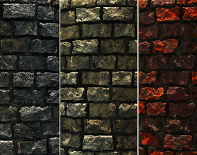 Brick Wall 3D Game Textures VR / AR ready