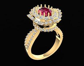 3D print model 1700 Diamond ring