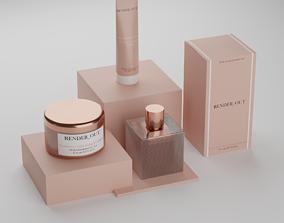 Photorealistic Perfume and cosmetics 3D model