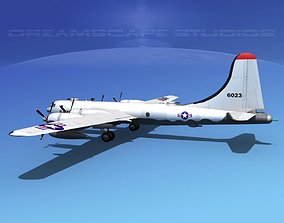Boeing B-50 Superfortress V02 3D model
