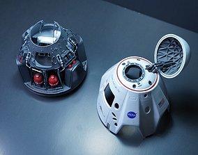 miniatures SpaceX Crew Dragon Capsule 3D print model