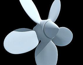 White 5 Side Propeller 3D model