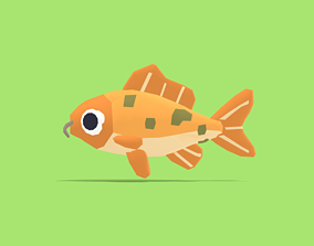 Cathy the Carp - Quirky Series 3D model