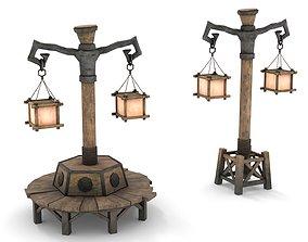 3D asset Fantasy Street Lamp