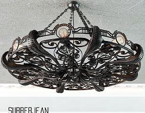 3D ironwork Chandelier Octapus Subberjean