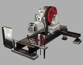Geared Traction Machine 3D asset