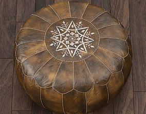 Moroccan Leather Pouf 3D model