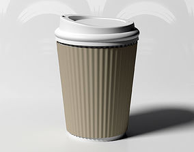 3D model Coffee Cup with wrap-around