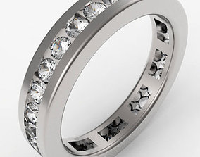 3D print model Channel Set Eternity Ring