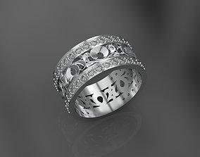 Ring 3d print model rings silver