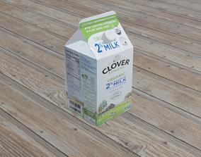 milk carton 3D asset