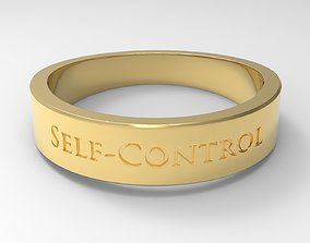 3D printable model Self-Control Female Ring Gold 24k