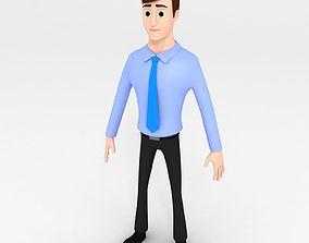 Cartoon Office Man model worker