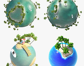 Collection Planet Tropic 3D model