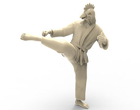 3D print model printable Chicken Roundhouse Kick