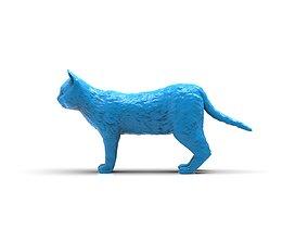 Realistic cat 3D printable model