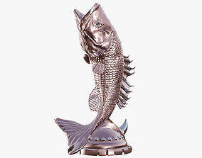 3D asset Fish statue