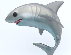 SHARK icon 3D asset