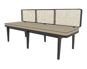 Long Sofa Rattan ids94 3D asset animated