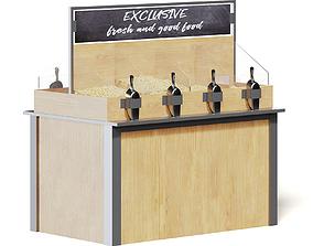 Market Shelf 3D Model - Nuts