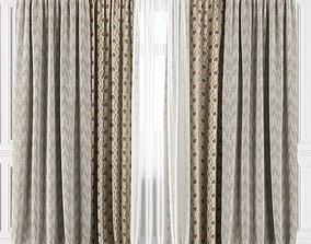 Curtain Set 180C 3D model design