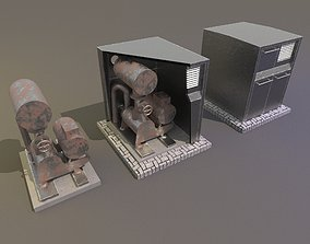 Industrial compressor 3D model