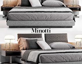 3D Minotti Yang Bed